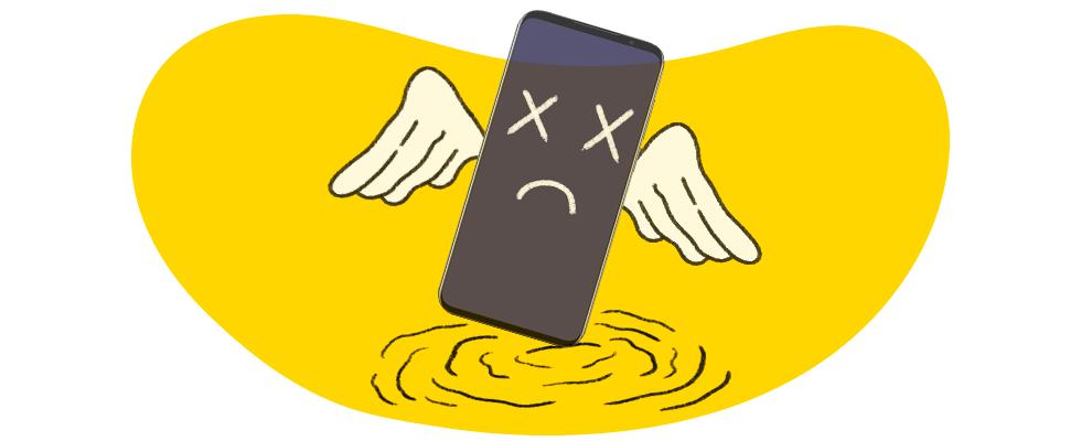 Как спасти промокший телефон