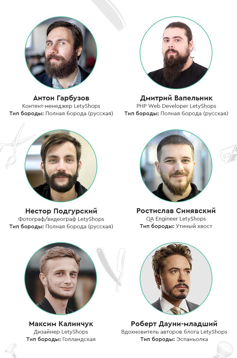 Разные типы бород